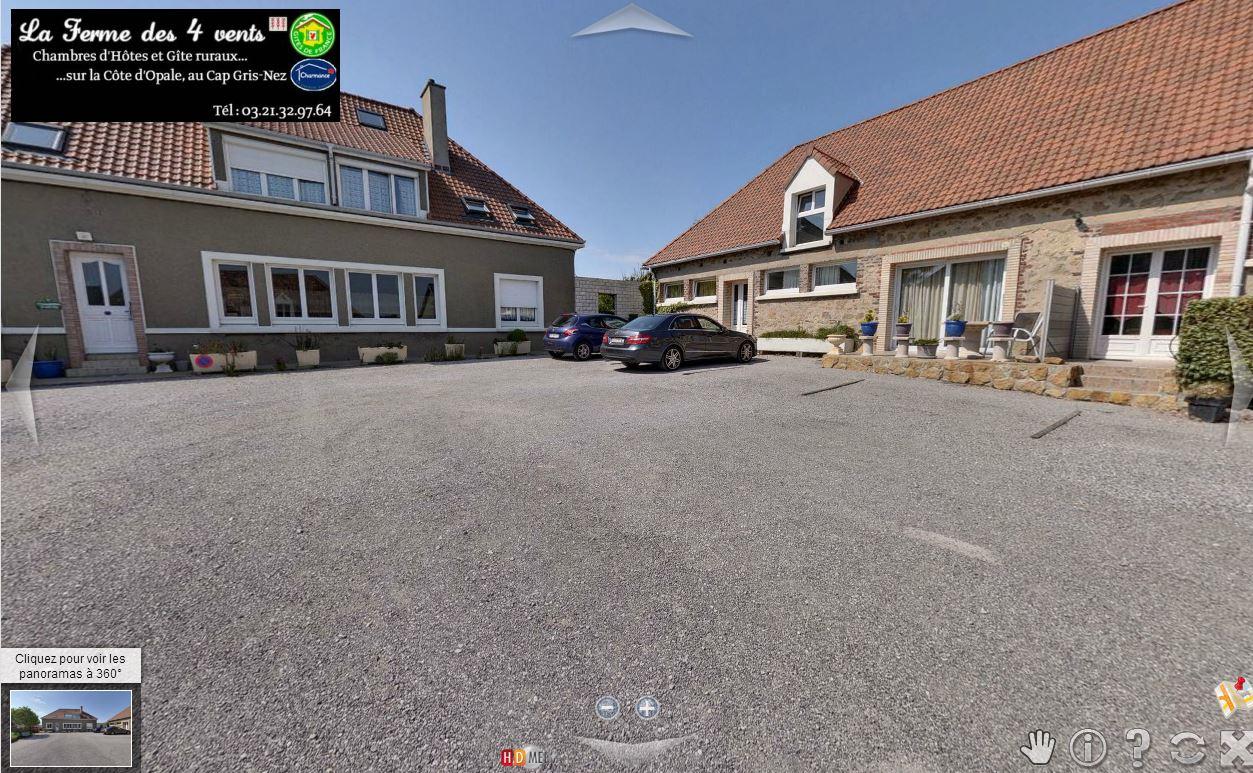 Visite virtuel 360 ferme des 4 vents location - Chambres d hotes cote d opale 4 epis ...